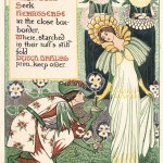 "Walter Crane ""A floral fantasy in an old English garden"""