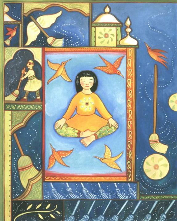"""Julie Paschkis """"Twist: Yoga Poems"""""""