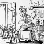 "Kate Greenaway ""Dame Wiggins of Lee, and her seven wonderful cats"""