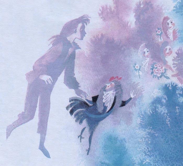 Черная курица открытка 48
