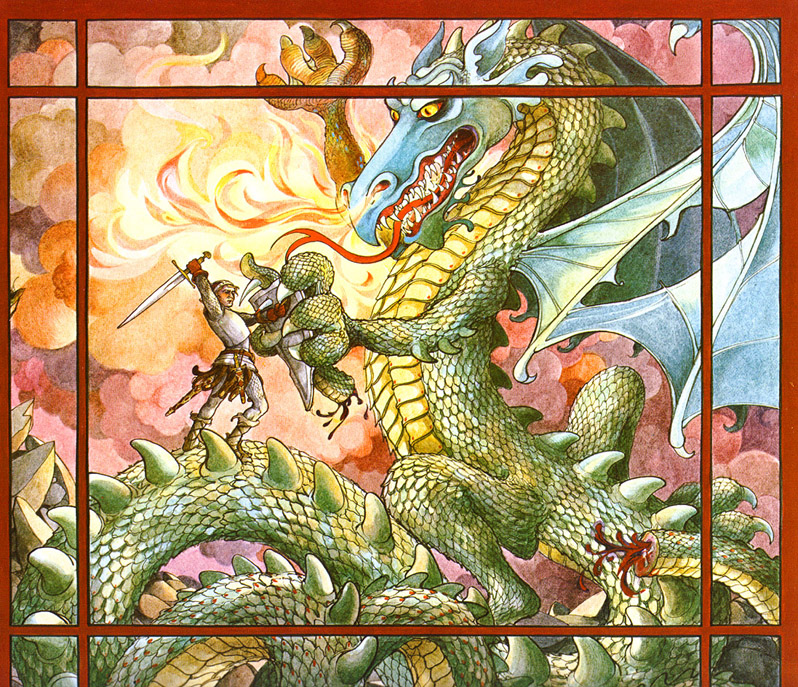 "Trina Schart Hyman ""Saint George and the Dragon"""