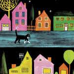 "Dahlov Ipcar ""The Cat at Night"""