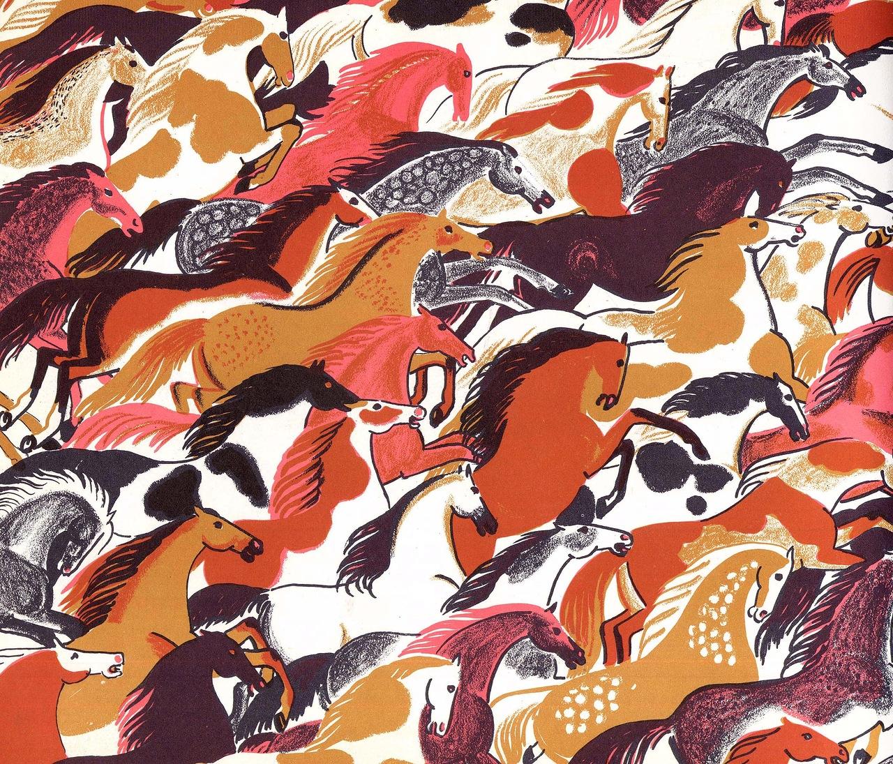 """Dahlov Ipcar """"World Full of Horses"""""""