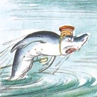 Кукрыниксы «Акула, гиена и волк»
