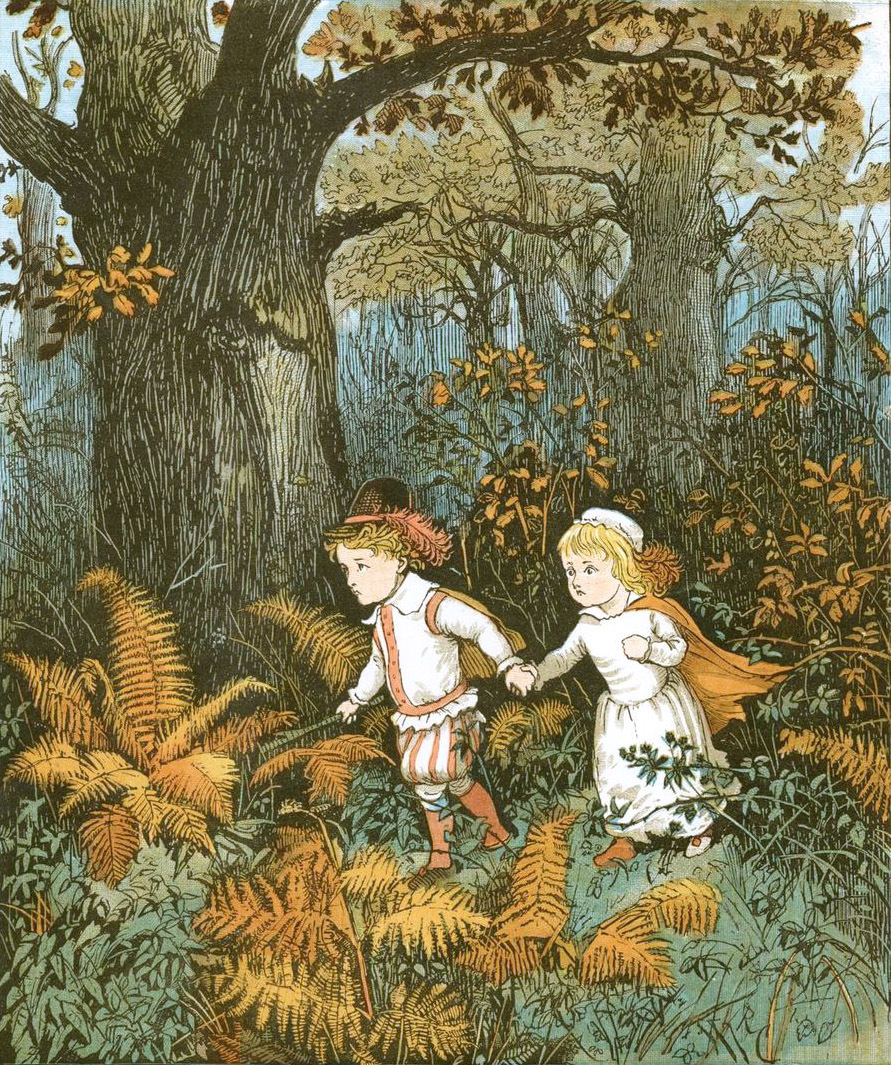 "Randolph Caldecott ""The babes in the wood"""