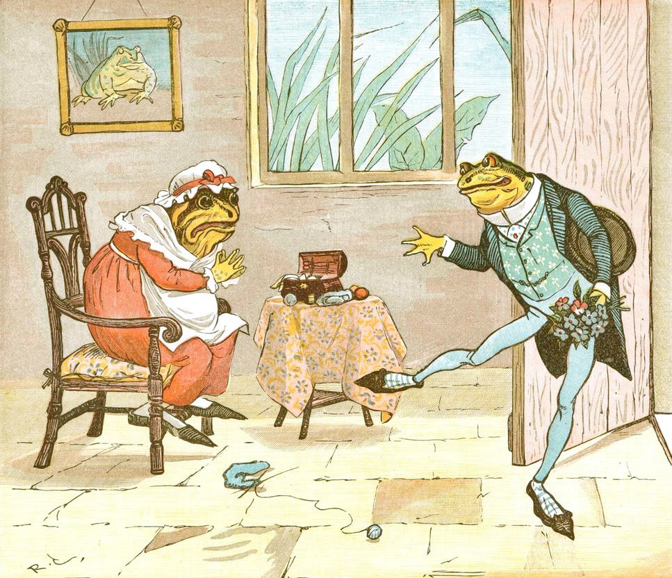 "Randolph Caldecott ""Frog he would a-wooing go"""