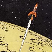 Hergé «Приключения Тинтина. Путешественники на Луне»